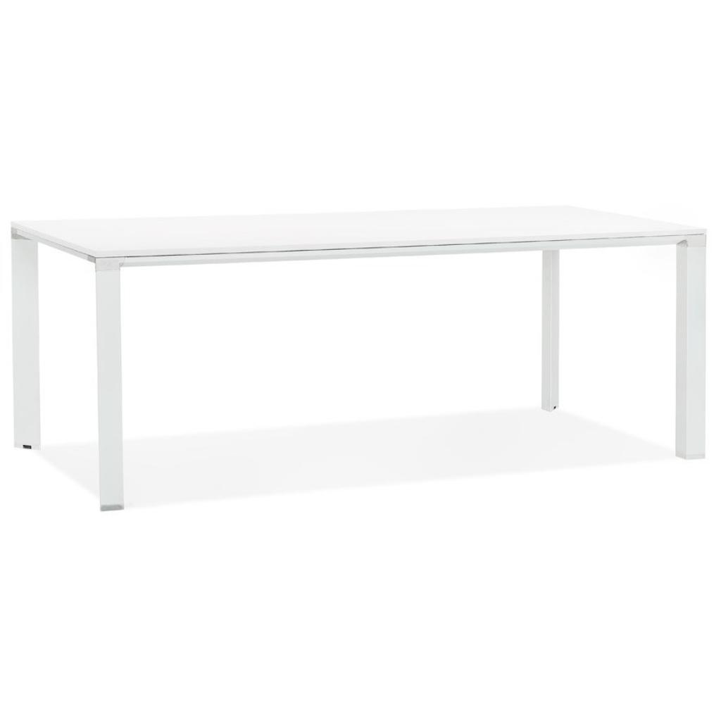 Table de réunion / à manger design ´XLINE´ en bois blanc – 200×100 cm