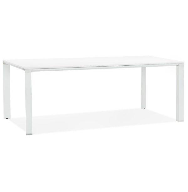 Table de réunion / à manger design ´XLINE´ en bois blanc - 200x100 cm