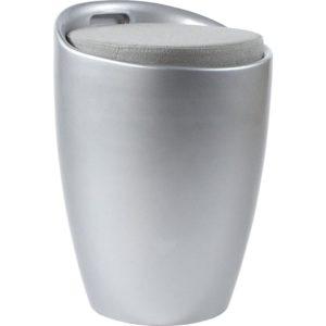 Tabouret coffre d´appoint ´GUM´ gris argenté