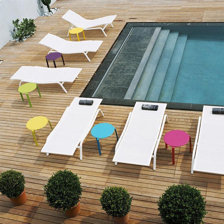 chaise longue blanche fermob design
