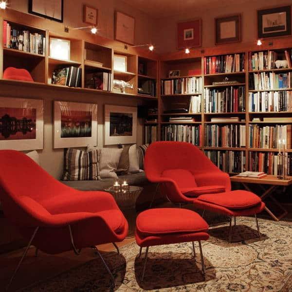 fauteuil design replique rouge