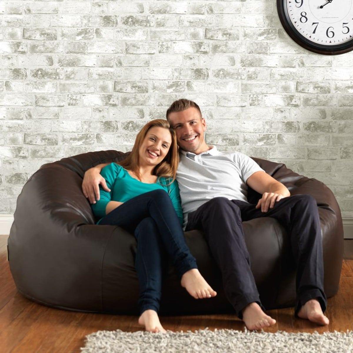 pouf geant sofa faux cuir design
