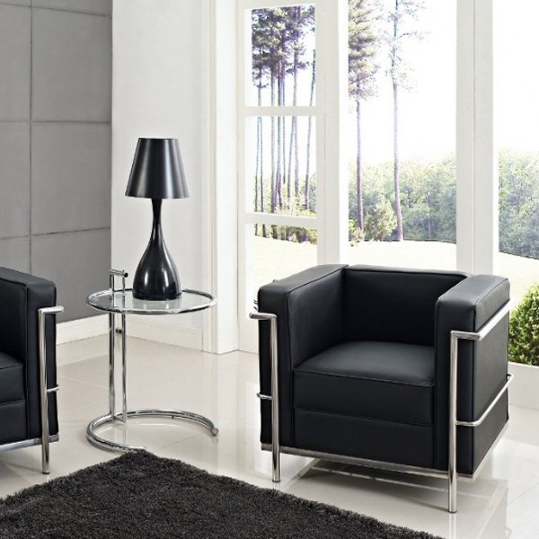 replique corbusier fauteuil cuir noir