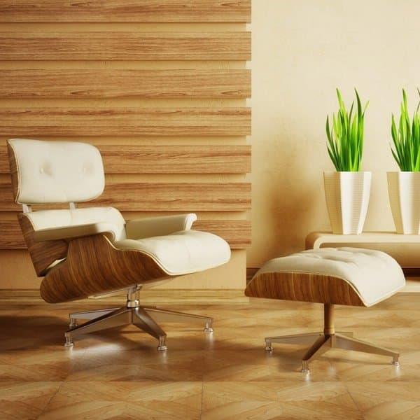 replique fauteuil design avec repose pieds