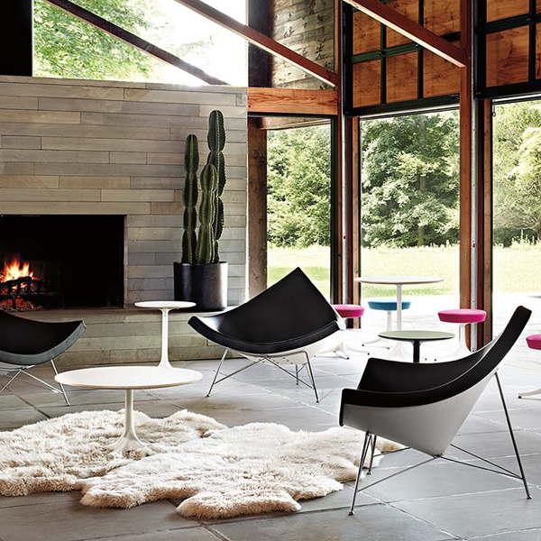 replique fauteuil design noir blanc