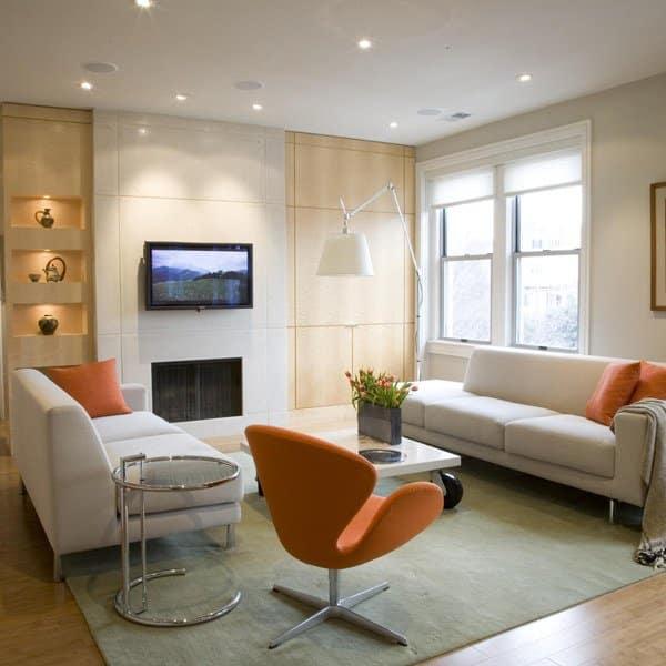 replique fauteuil design orange