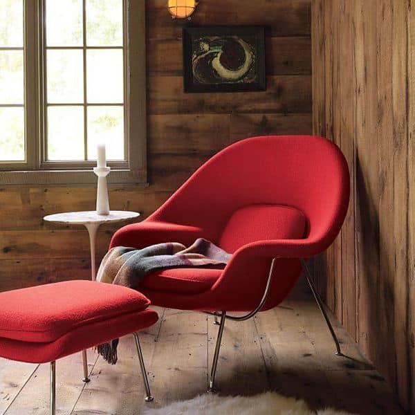 replique fauteuil design rouge