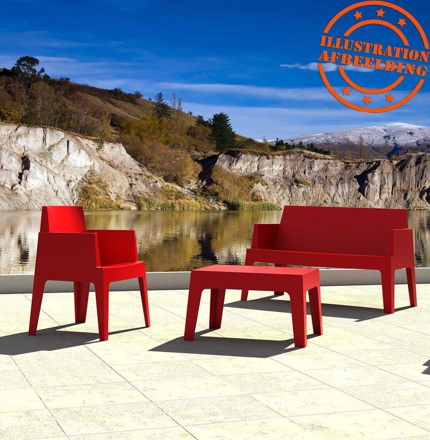 salon de jardin plastique rouge table chaises