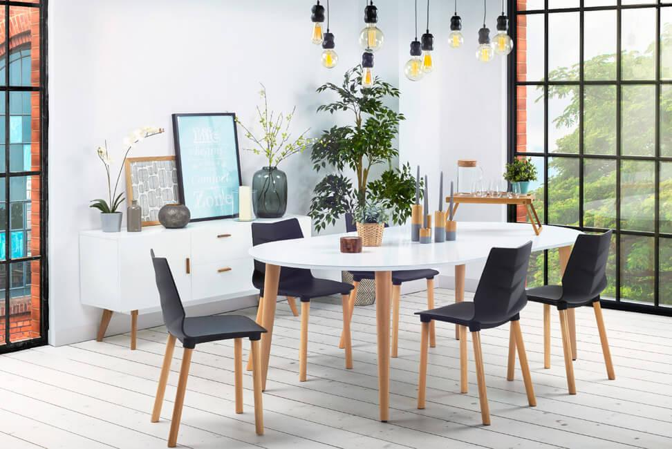 table rectangulaire arrondie design