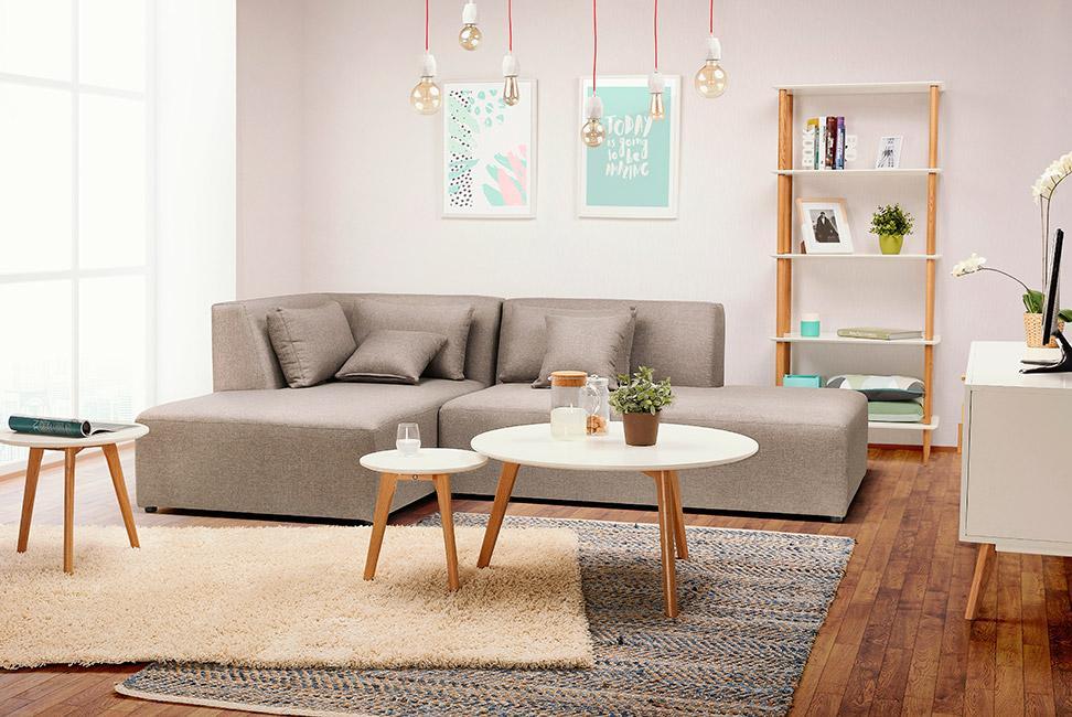 tapis poils courts dans un salon design