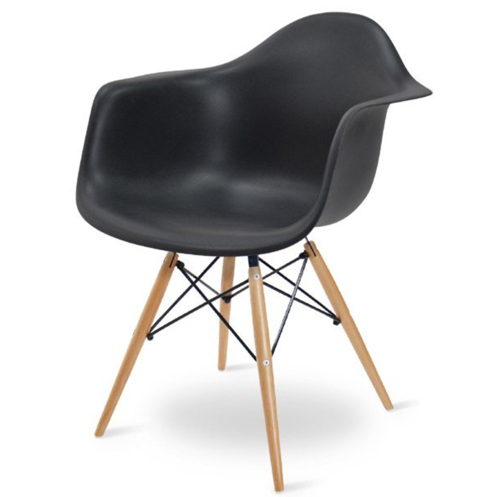 Reproduction chaise Eames DAW en noir
