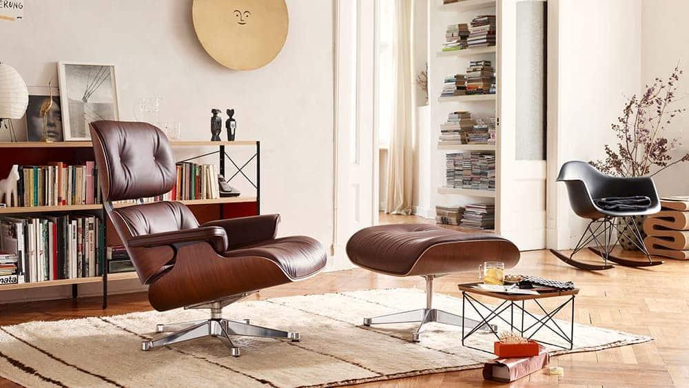 You are currently viewing Reproduction fauteuil Eames Lounge, réédition Vitra – Coup de cœur