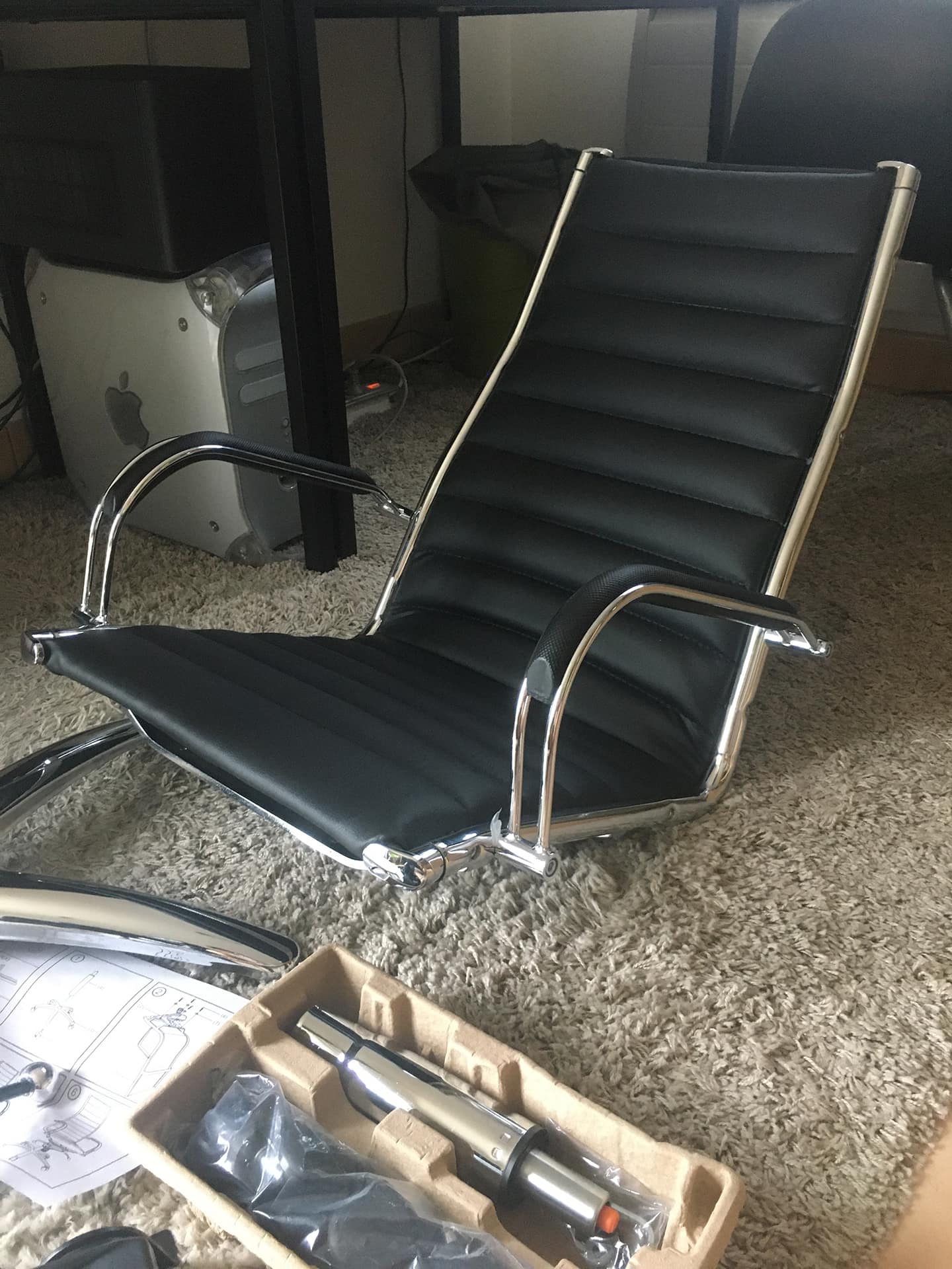 deballage carton fauteuil de bureau