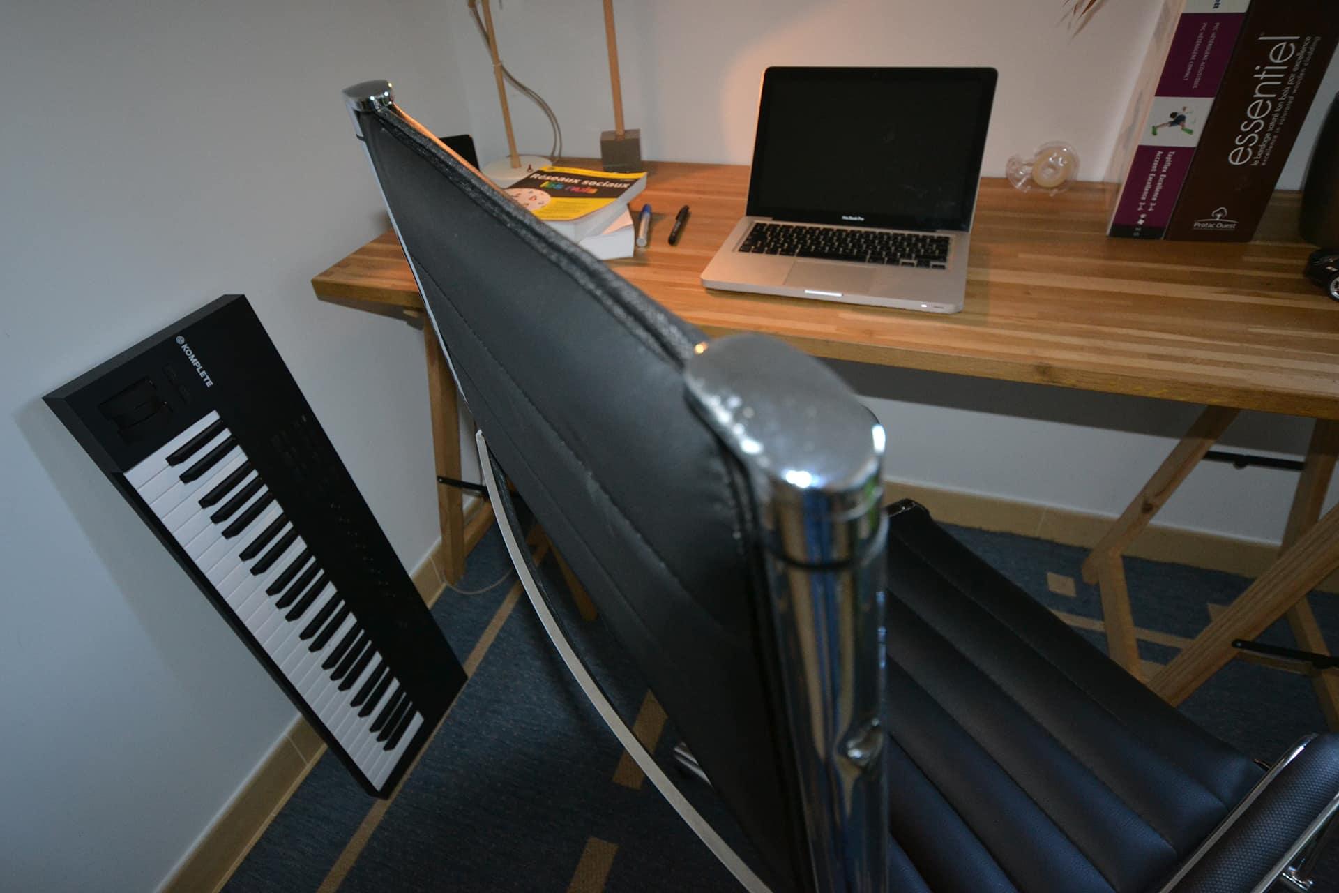 detail dessus fauteuil bureau design