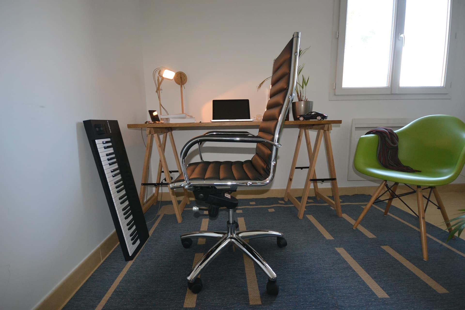 fauteuil de bureau design test vue ensemble