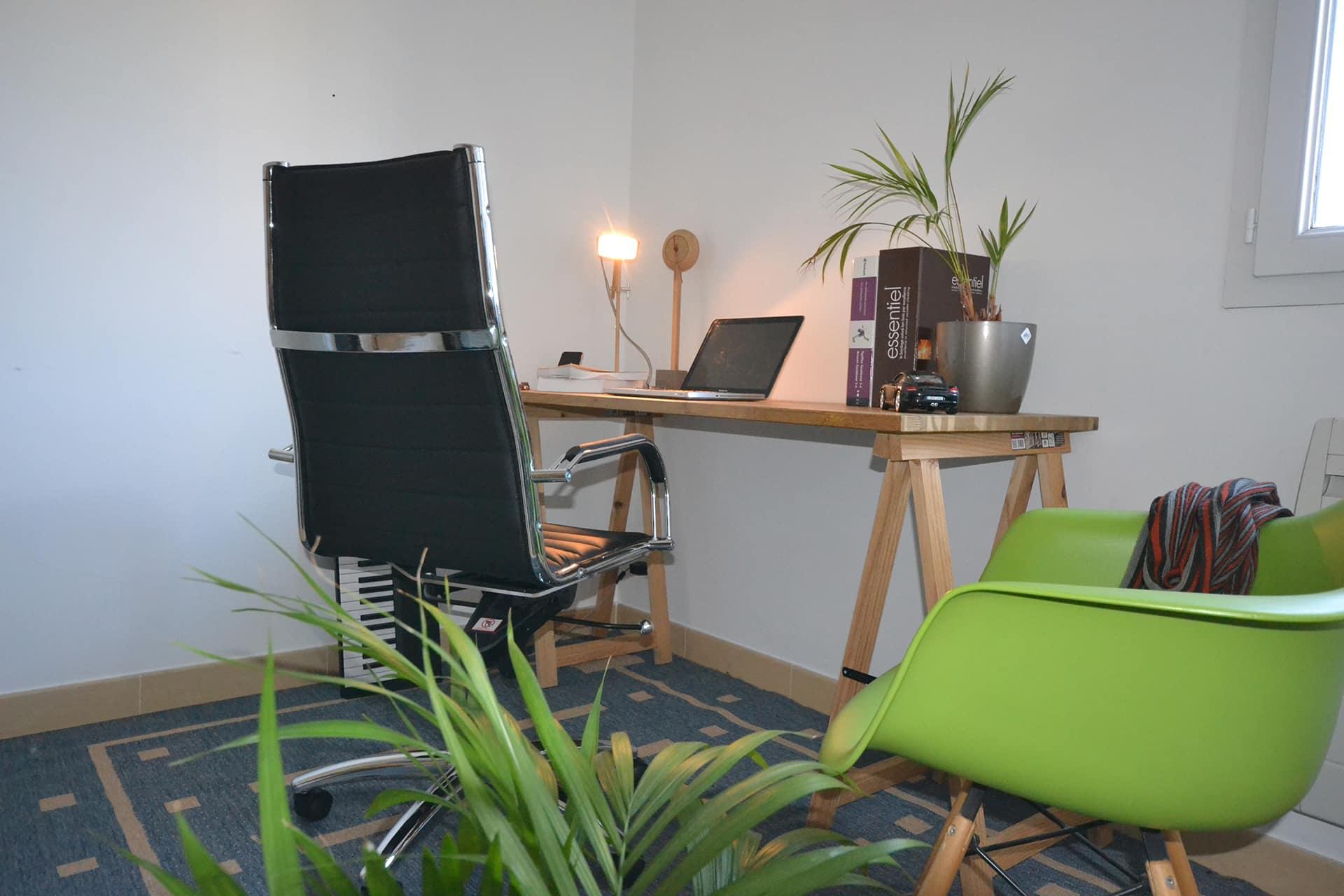 vue arriere fauteuil bureau design
