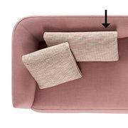 Accessoire canapé Cosy / Coussin pour canapé Cosy - 40 x 75 - MDF Italia rose en tissu