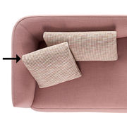 Accessoire canapé Cosy / Coussin pour canapé Cosy - 50 x 50 - MDF Italia rose en tissu