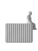 Accessoire / Homme assis - Pour applique Umarell - Karman blanc mat en céramique