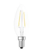 Ampoule LED E14 / Flamme claire - 2,5W=25W (2700K, blanc chaud) - Osram transparent en verre