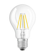 Ampoule LED E27 / Standard claire - 4W=40W (2700K, blanc chaud) - Osram transparent en verre
