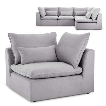 Angle pour canapé modulable en tissu VIANA coloris gris