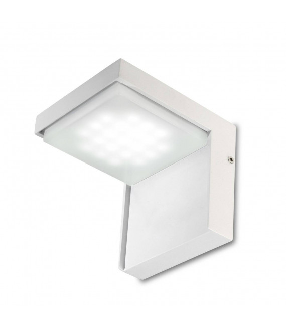 Applique Corner, aluminium et polycarbonate, blanc