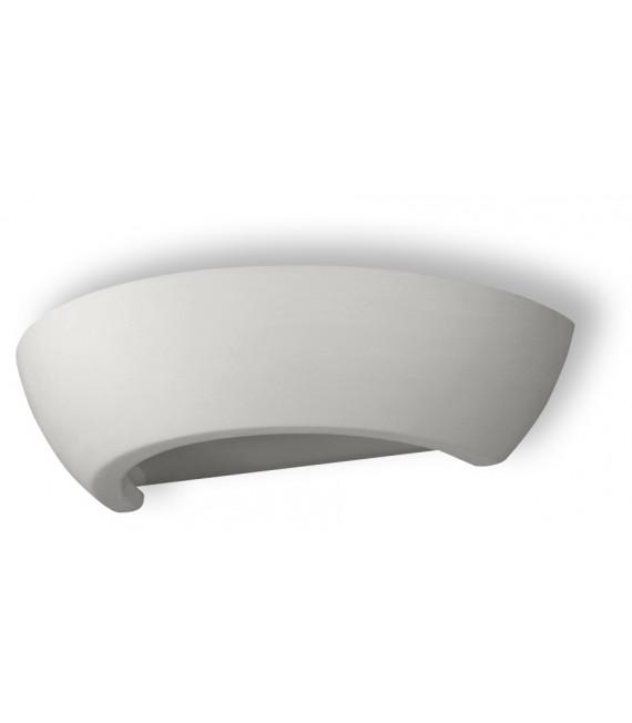 Applique murale OSKAR céramique/verre blanc 1 ampoule