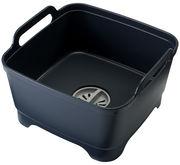Bac à vaisselle Wash&Drain / Avec système d'évacuation - Joseph Joseph gris en matière plastique