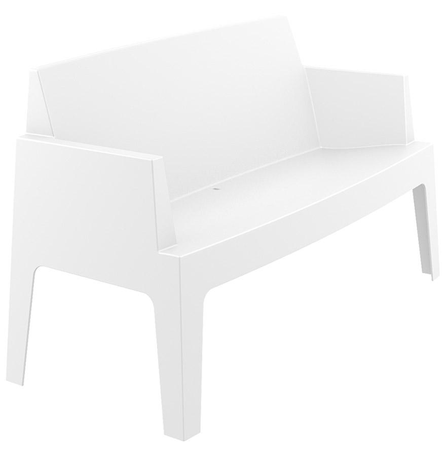 Banc de jardin 'PLEMO XL' blanc en matière plastique