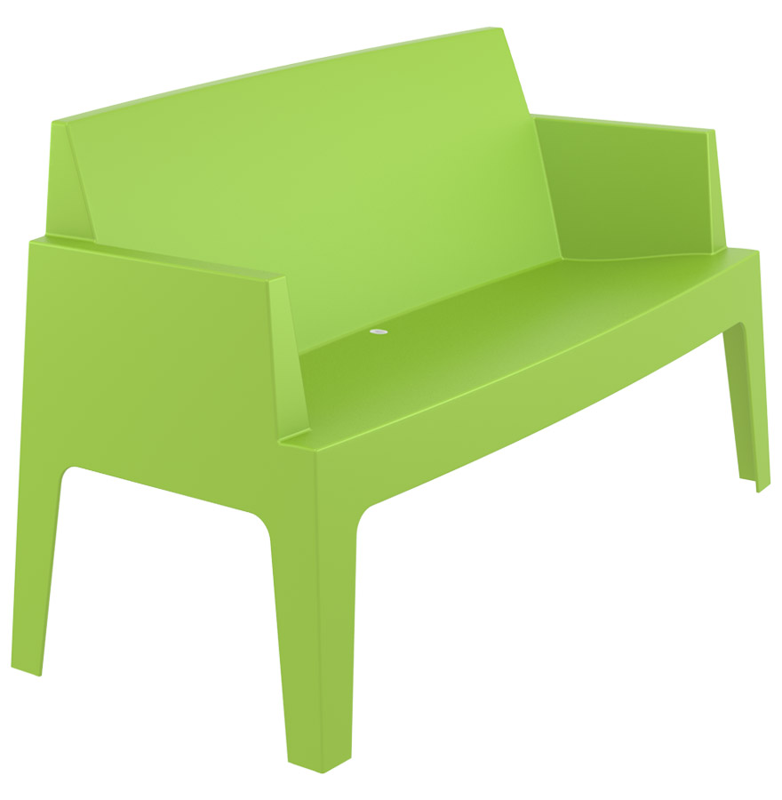 Banc de jardin 'PLEMO XL' vert en matière plastique