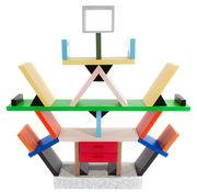 Bibliothèque Carlton by Ettore Sottsass / Séparation / 1981 - Memphis Milano multicolore en matière plastique