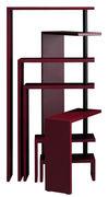 Bibliothèque extensible Joy modulable / 7 étagères - H 190 cm - Zanotta bordeaux en métal