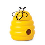 Boîte magnétique Busy Bees / + 20 trombones abeille - Pa Design jaune,noir en matière plastique