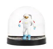 Boule à neige / Astronaute - & klevering blanc,noir en matière plastique