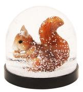 Boule à neige / Ecureuil - & klevering orange,noir en matière plastique