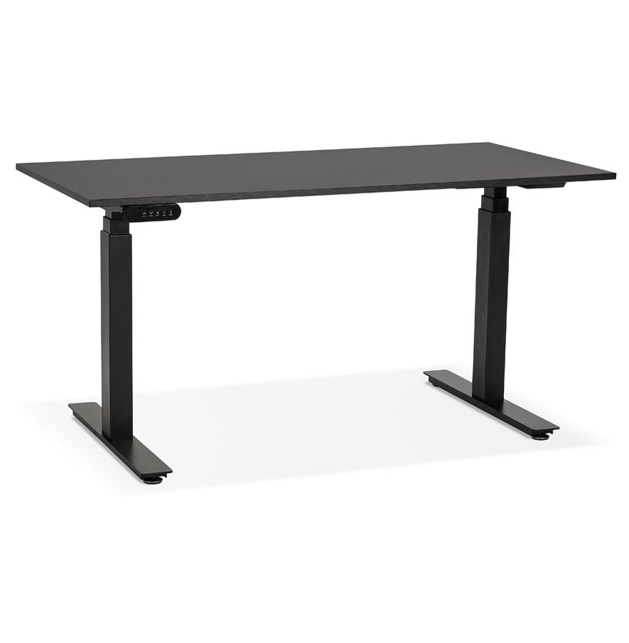 Bureau assis debout électrique 'TRONIK' noir - 140x70 cm