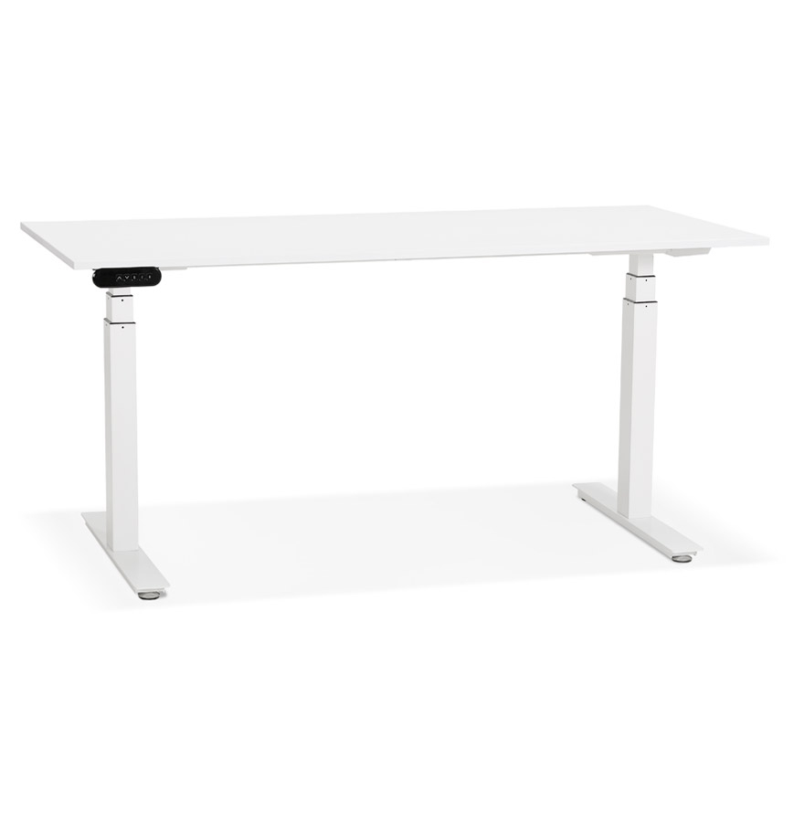 Bureau réglable en hauteur électrique 'TRONIK' blanc - 160x80 cm