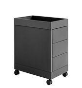 Caisson à roulettes New Order / 3 tiroirs - Hay charbon en métal