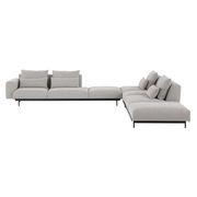 Canapé d'angle In Situ n°8 / 6 à 8 places - 386 x 360 cm - Angle Droite - Muuto gris clair en tissu