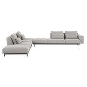 Canapé d'angle In Situ n°9 / 6 à 8 places - 386 x 360 cm - Angle Gauche - Muuto gris clair en tissu