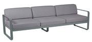 Canapé droit Bellevie 3 places / L 235 cm - Tissu gris flanelle - Fermob gris orage,gris flanelle en métal