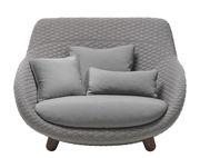Canapé droit Love High / Dossier haut - 2 places - L 129 cm - Moooi gris en tissu