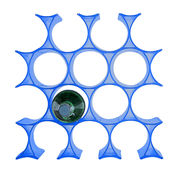 Casier à bouteilles Infinity - Kartell bleu en matière plastique