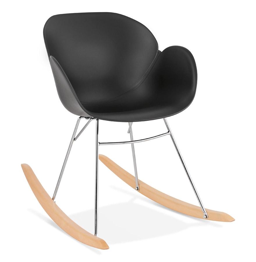 Chaise à bascule design 'BASKUL' noire en matière plastique