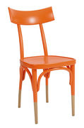 Chaise Czech / Bois - Wiener GTV Design orange,bois naturel en bois