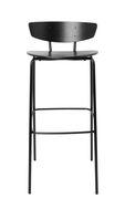 Chaise de bar Herman / High - H 76 cm - Ferm Living noir en métal