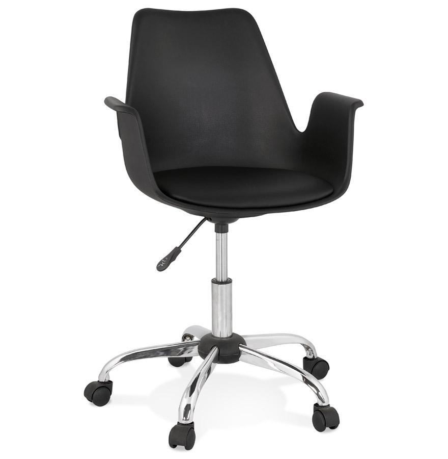 Chaise de bureau avec accoudoirs 'TRIP' noire design