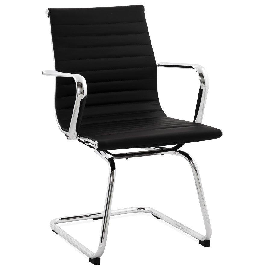 Chaise de bureau design 'GIGA' en matière synthétique noire
