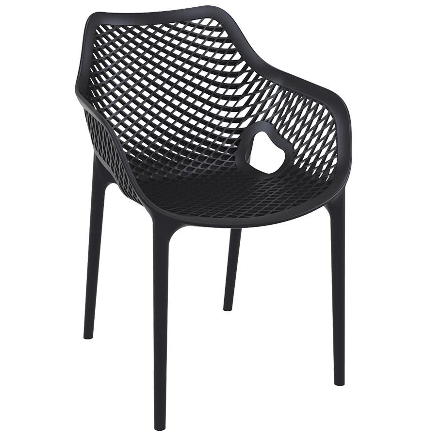 Chaise de jardin / terrasse 'SISTER' noire en matière plastique
